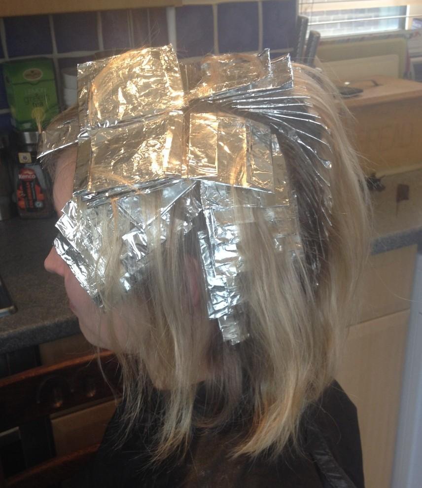 Bob Hair Cut With Foils Emma Leigh Cardiff Mobile